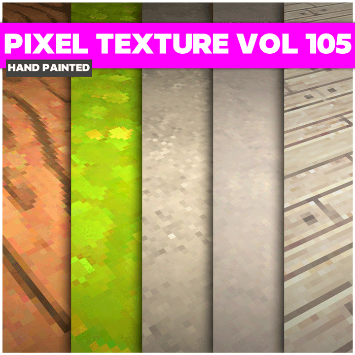 Stylized Pixel Vol 105 – Hand Painted Textures