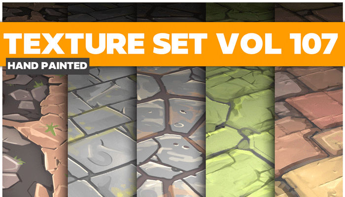 Stylized Textures Vol 107 – Hand Painted Textures