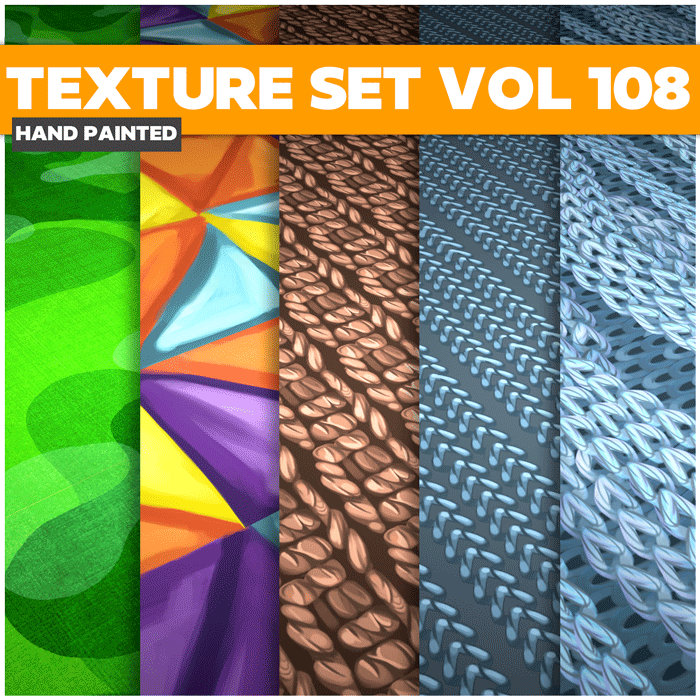 Stylized Textures Cloth Vol 108- Hand Painted Textures