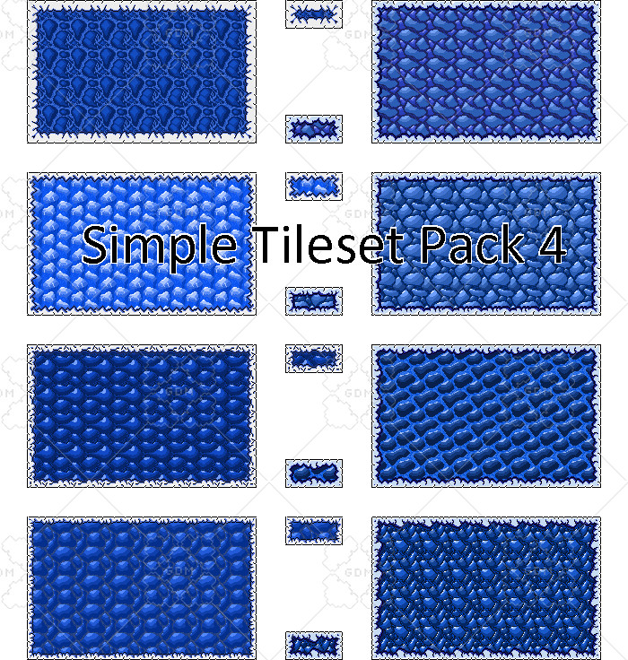 Simple platformer tileset and platforms with shattering 4