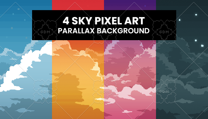 Sky Pixelart Background