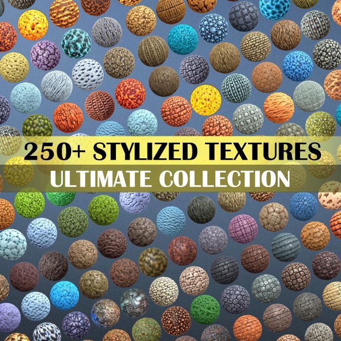 300+ Hand Painted Textures Mega Bundle Part 1