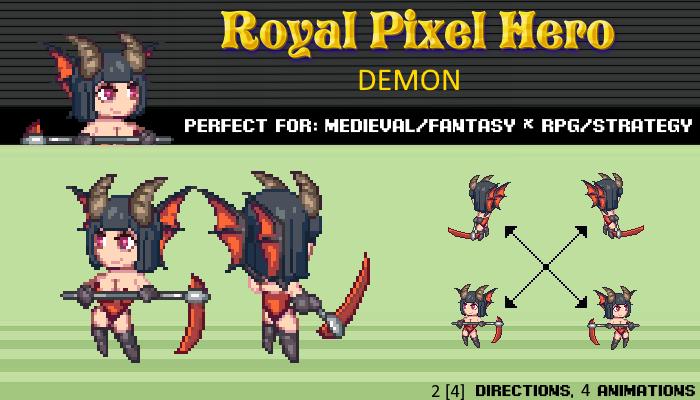 Pixel Art Chibi: Demon / Royal Pixel / Isometric