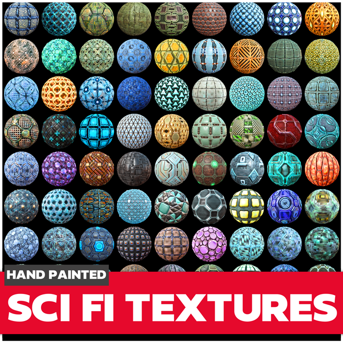 Sci-fi Game Textures Collection