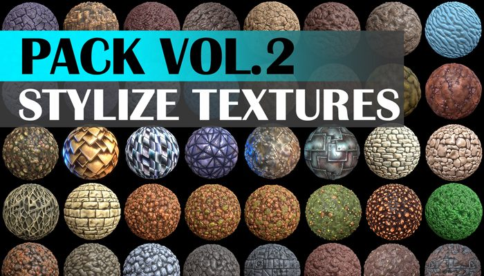 Stylized Texture Pack – VOL.02 Textures