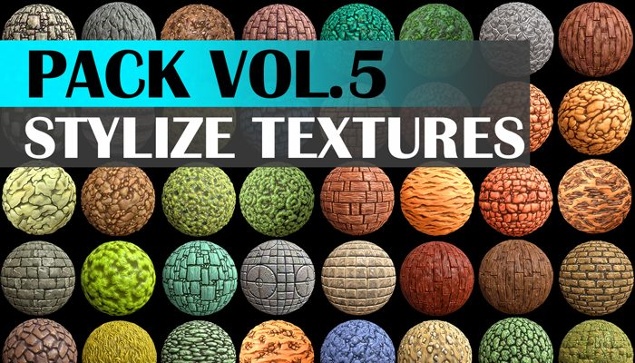 Stylized Texture Pack – VOL.05 Textures