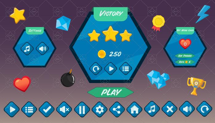 Polygonal UI Pack