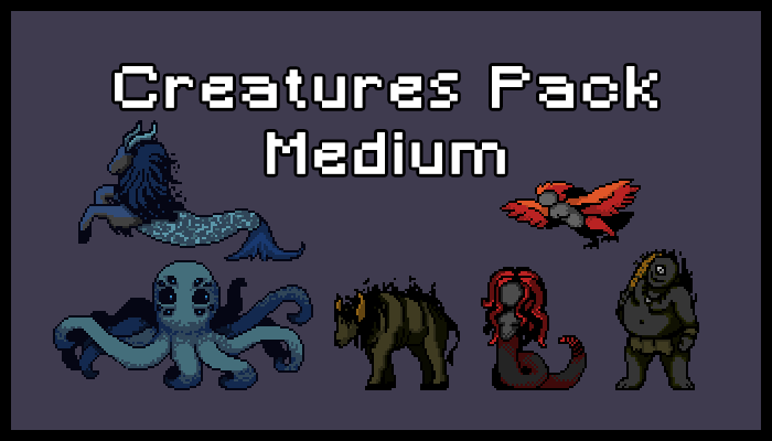 Creatures Pack – Medium
