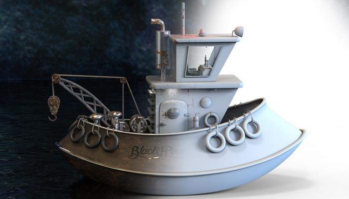 Blackpearl ship 3d model & Print