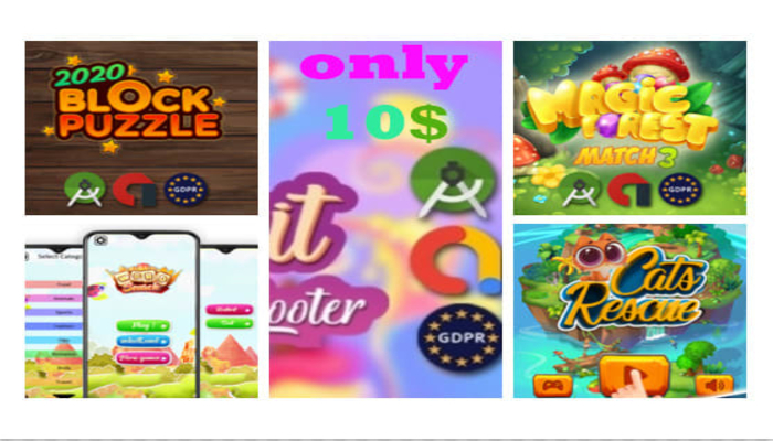 5 games source templates android game