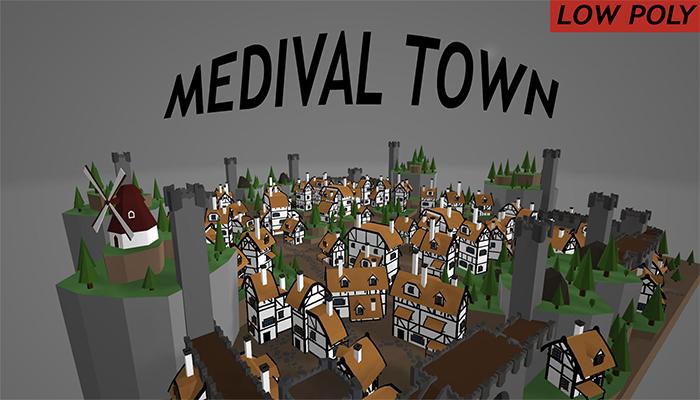 Medieval Village – Low poly