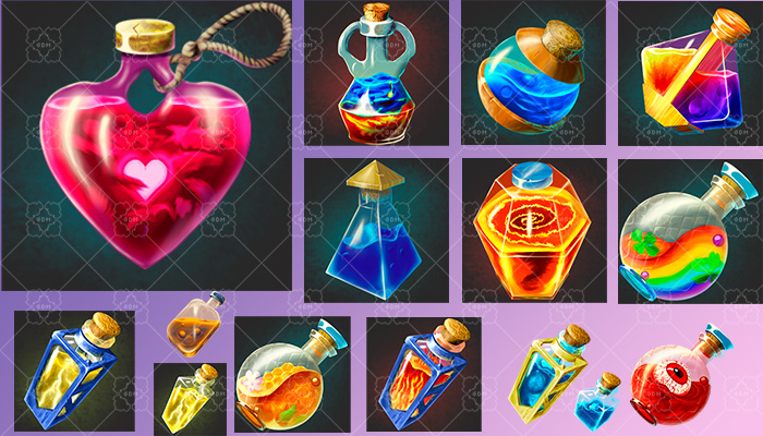 Magic potions and bottles