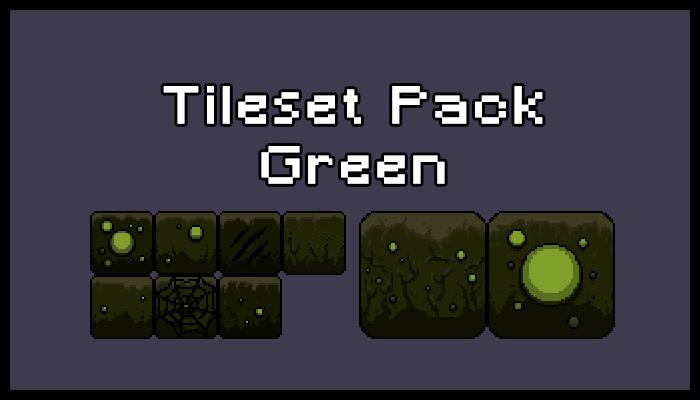 Tileset & Background Pack – Green