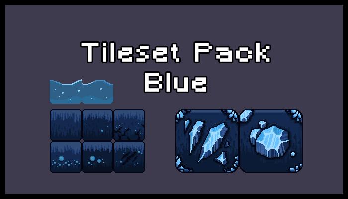 Tileset & Background Pack – Blue