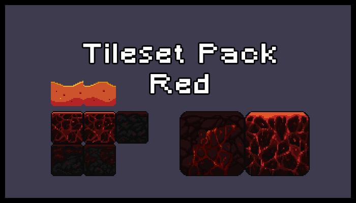 Tileset & Background Pack – Red