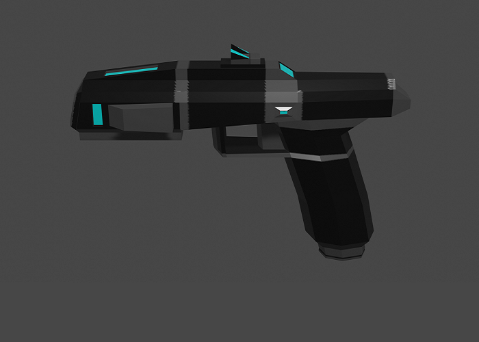 Low-Poly Tactical Pistol