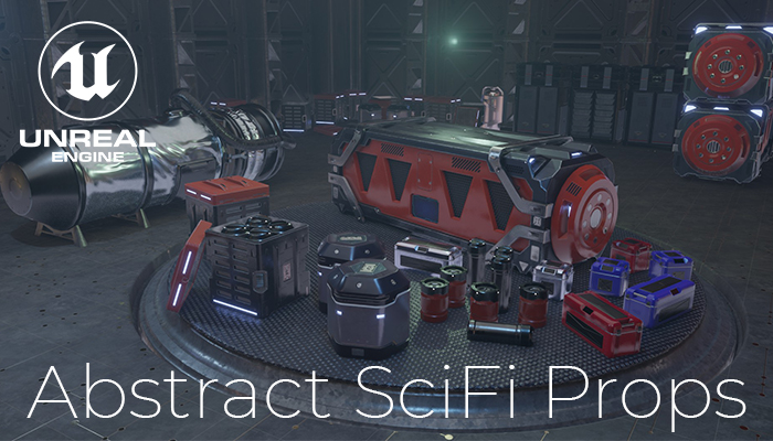 Abstract SciFi Props – Unreal Engine Asset