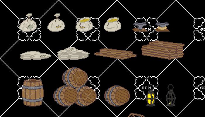Objects for docks (Pixel Art)