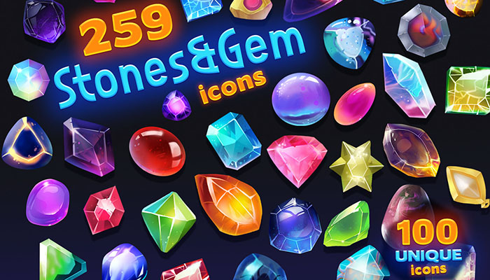 Stones & Gem Icon Pack