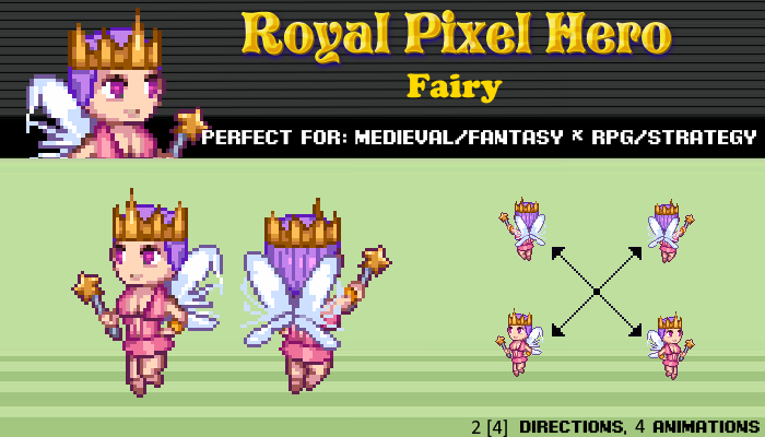 Pixel Art Chibi: Fairy / Royal Pixel / Isometric