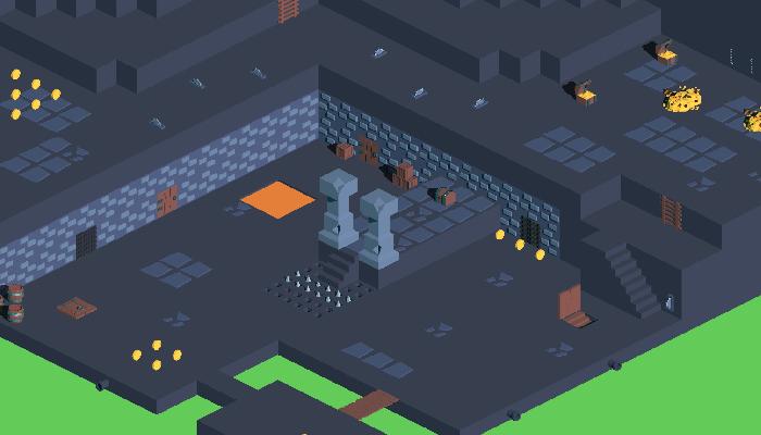 Isometric Dungeon Tileset 2D