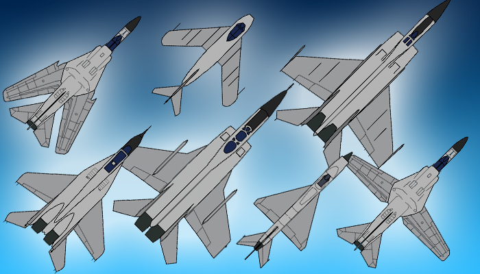 Jet Fighter Sprite Pack 2