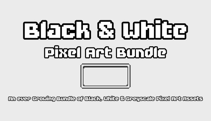 Black and White Pixel Art Bundle