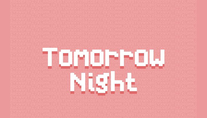 Tomorrow Night – Pixel Font (8×10)