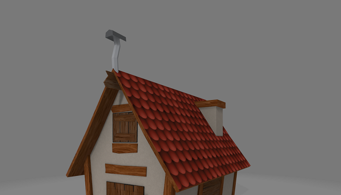 Game Asset Low Poly House