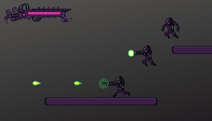 Pixel Sci fi Alien Character