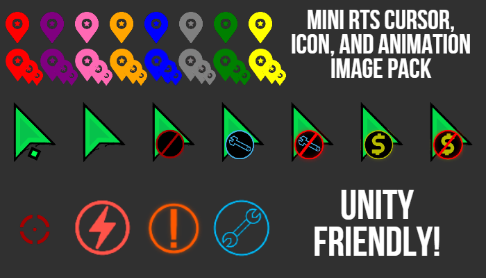 Mini RTS Cursor, Icon, and Animation Image Pack