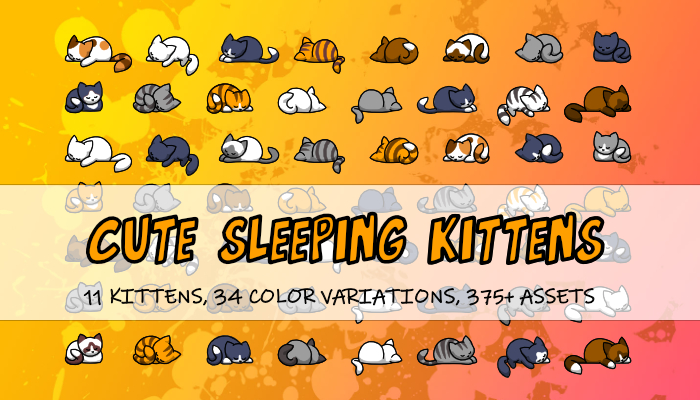 Sleeping Kittens 2D Icon/Images