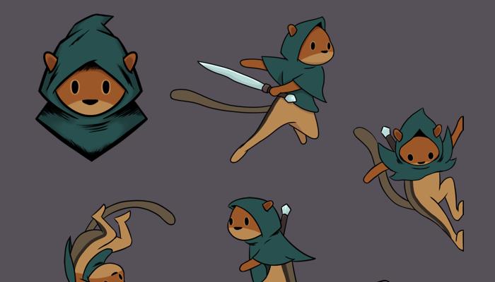 2D Squirrel Character