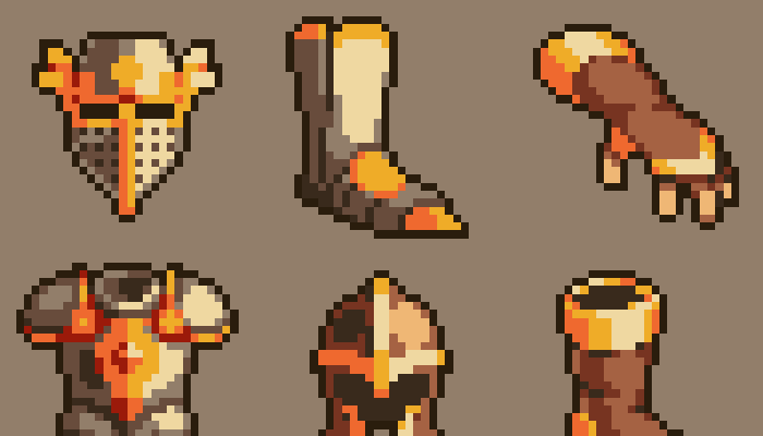 100 Pixel Art Fantasy Armor Icons
