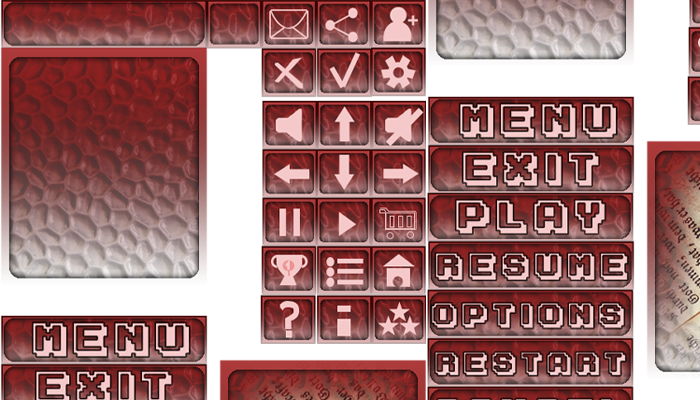 Retro buttons and icons