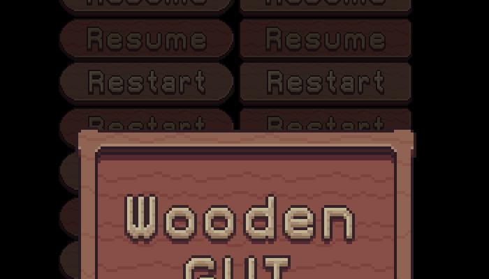 Pixel art Wooden GUI