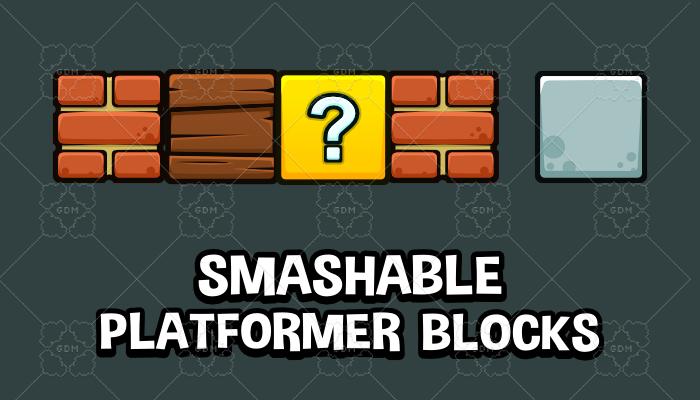 Smashable platformer blocks