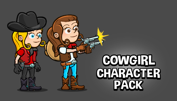 Cowgirl character pack