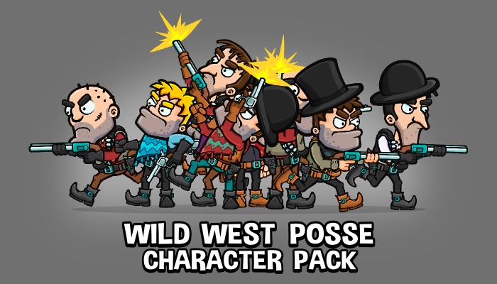 Wild west enemy posse