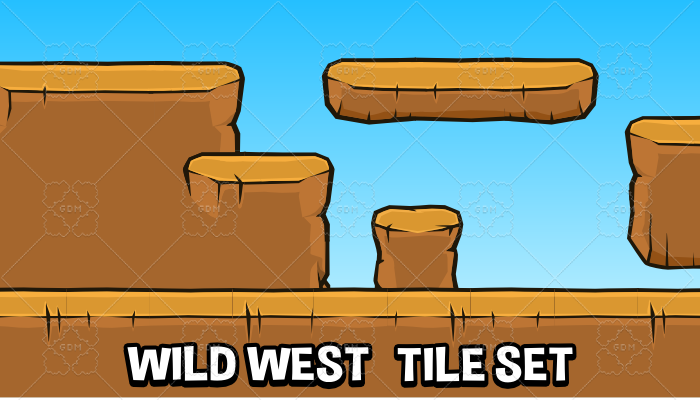 Wild west tile set