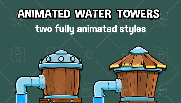 Animated water tower