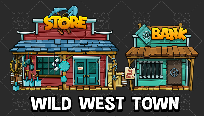 Wild west town pack
