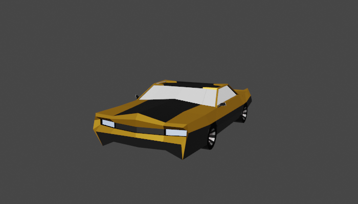 Low Poly Classic Car