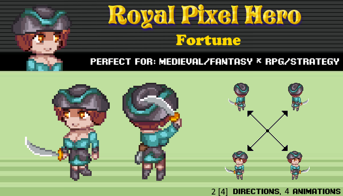 Pixel Art Chibi: Pirate / Royal Pixel / Isometric