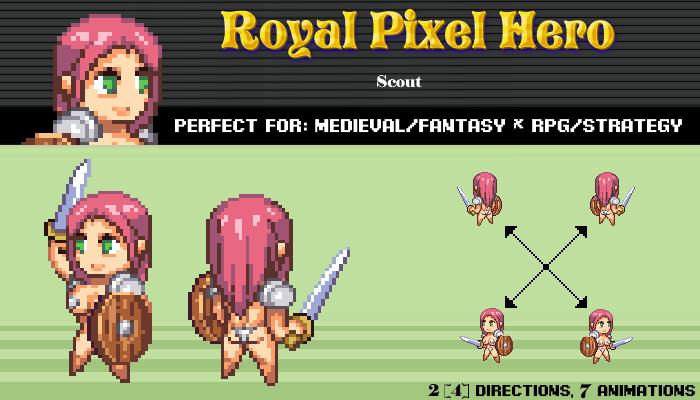 Pixel Art Chibi: Knight / Royal Pixel / Isometric