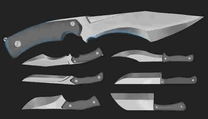 Hand painted knifes