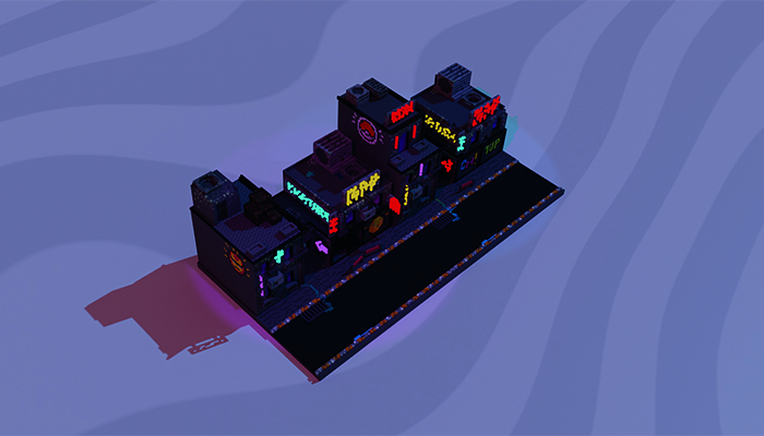 Voxel Cyber Buildings