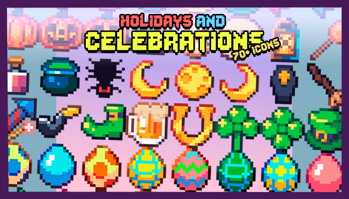 Holidays and Celebrations Icon Pack (70+ Icons)