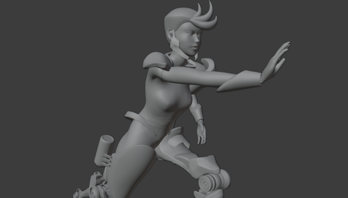 Female Character with Basics Animation