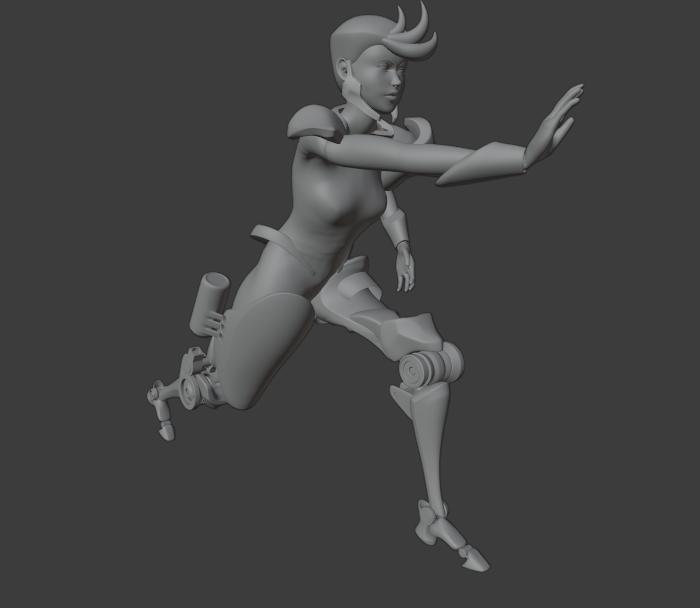 Female Character with Basics Animation